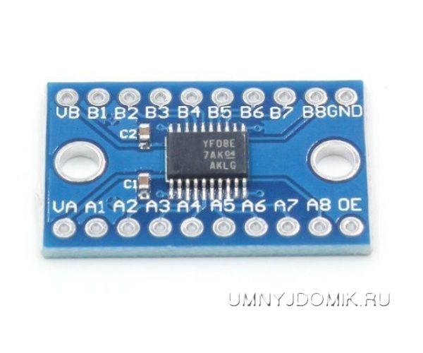 """8 - канальный двунаправленный конвертер логических уровней 3.3 В / 5 В на м/сх """"TXS0108E"""""""