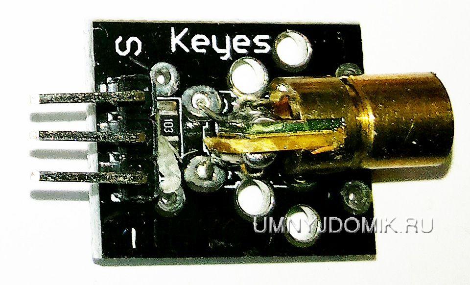 """""""KY-008"""" - лазерный модуль с длиной волны 650 нм для Arduino"""