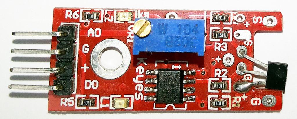 """""""KY-024"""" – магнитный, линейный датчик Холла с цифровым интерфейсом"""