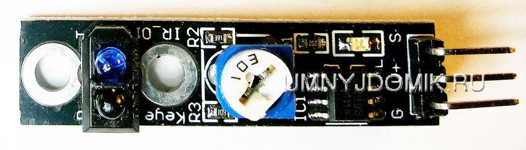 """""""KY-033"""" - модуль датчика отслеживающего линию для ARDUINO"""