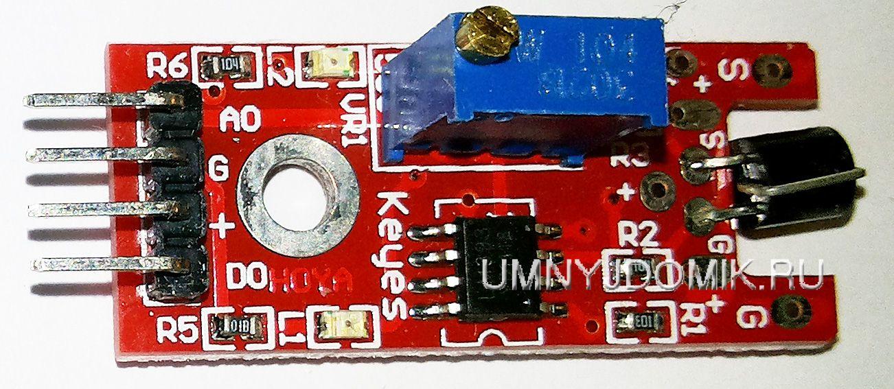 """""""KY-036"""" - сенсорный модуль с металлическим контактом (для ARDUINO)"""