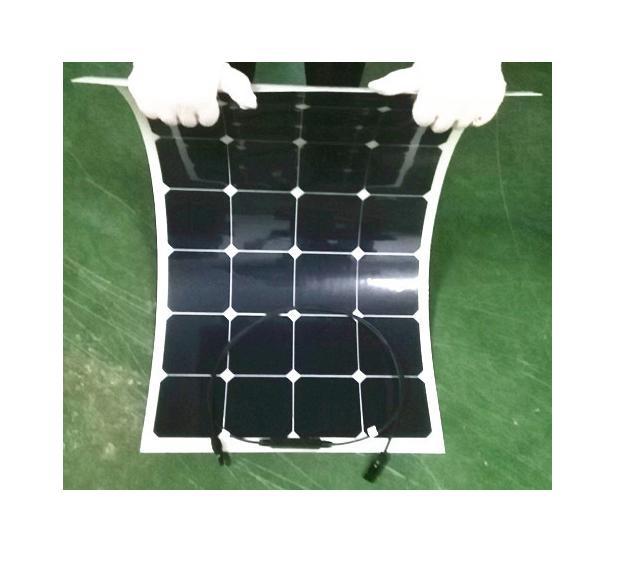 Гибкие солнечные батареи 50 ватт (50 Вт, 18 В, 2.84 А, 560x540x3 мм) - вид спереди