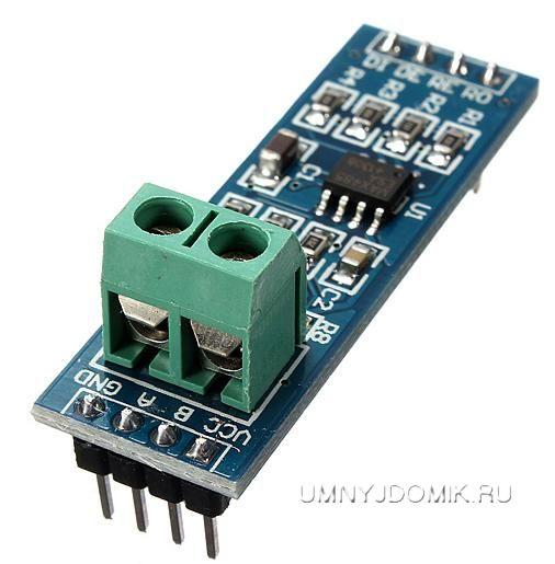 Фото модуля преобразователя интерфейсов UART TTL - RS-485