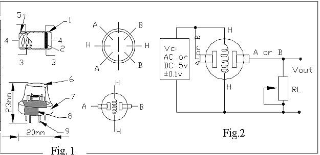 "Схема подключения датчика дыма ""MQ-2"""