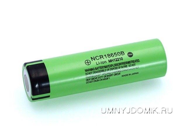 """Перезаряжаемая литий-ионная аккумуляторная батарея """"NCR18650B"""" 3.7 В, 3400 мА/ч, тип -18650"""
