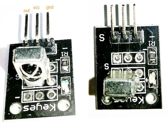 """Фото """"KY-022"""" - модуля ИК приемника на базе """"VS1838B"""""""